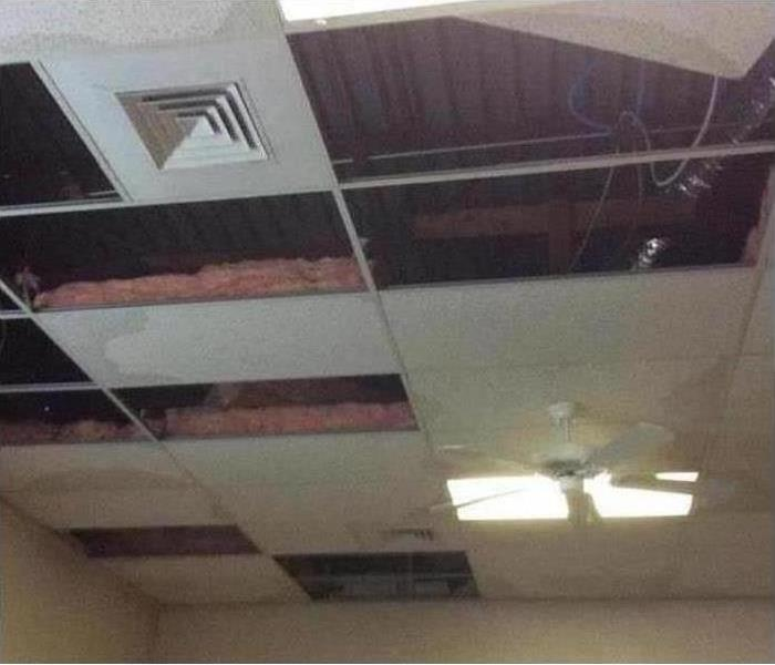 Commercial Ceiling Storm Damage