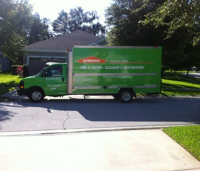 SERVPRO of South Tampa truck in front of residential home