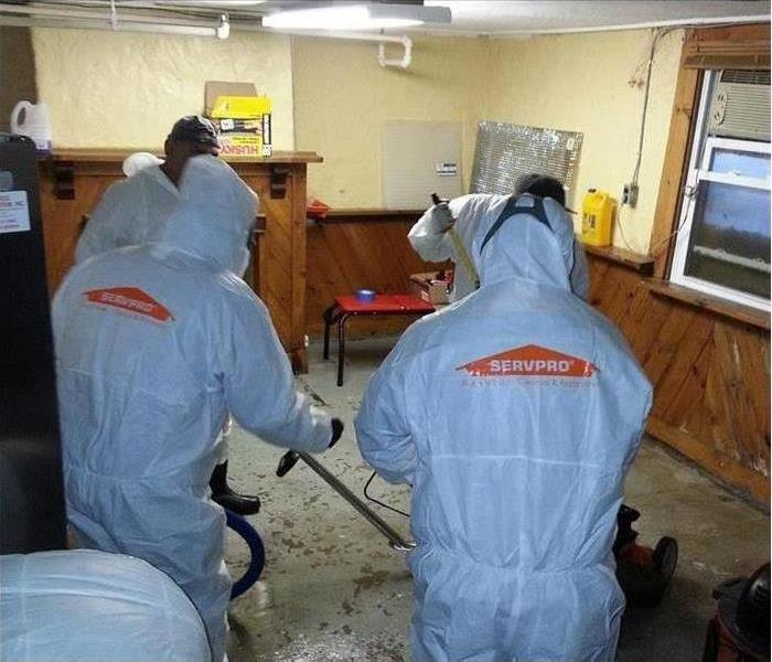SERVPRO technicians performing biohazard services